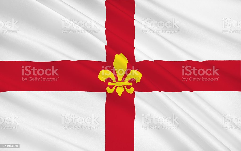 Flag of Lincoln is cathedral city and the county town stock photo