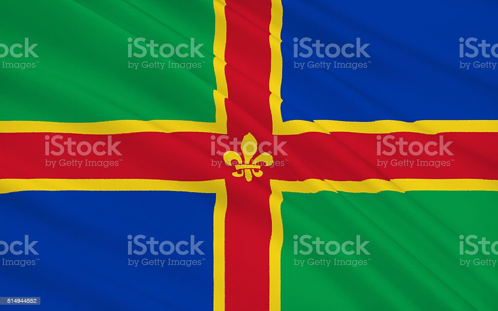 Flag of Lincolnshire is a county, England stock photo