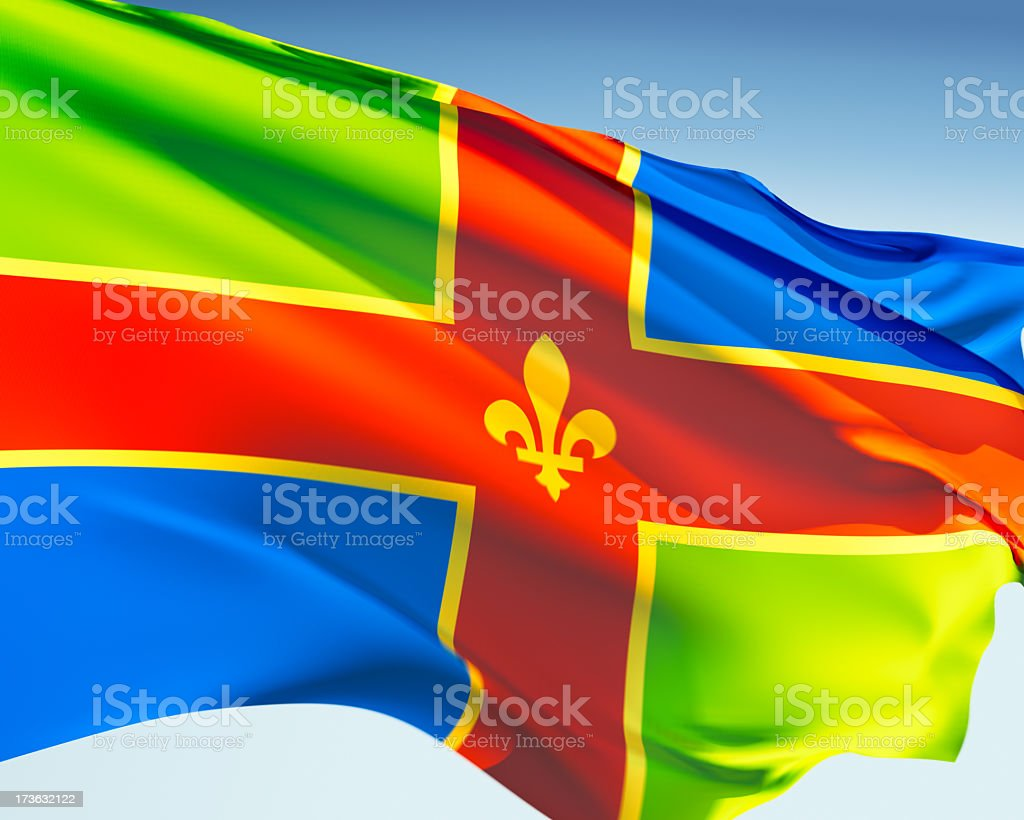 Flag of Lincolnshire stock photo