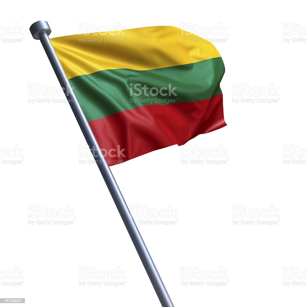 Flag of Lithuania isolated on white stock photo