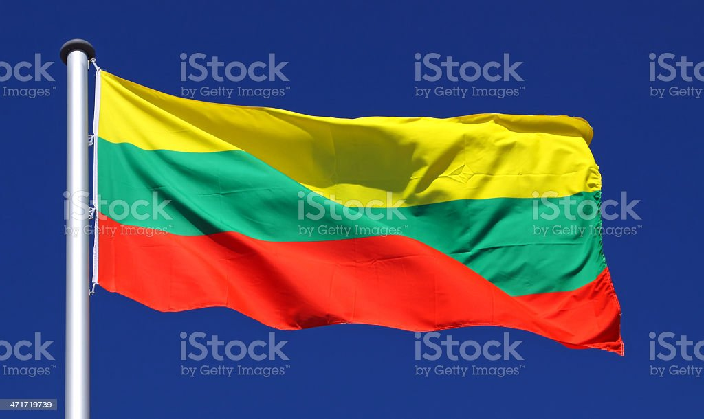 Flag of Lithuania royalty-free stock photo