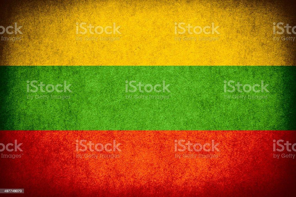 flag of Lithuania stock photo