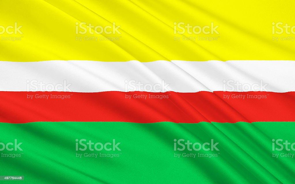Flag of Lubusz Voivodeship in western Poland vector art illustration