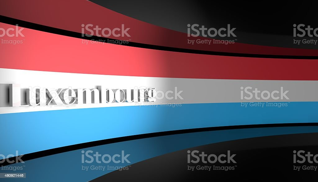 Flag of  Luxembourg stock photo