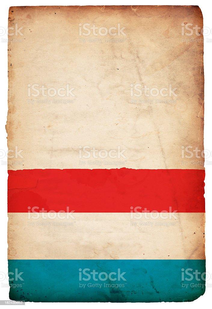 Flag of Luxembourg - XXXL royalty-free stock photo