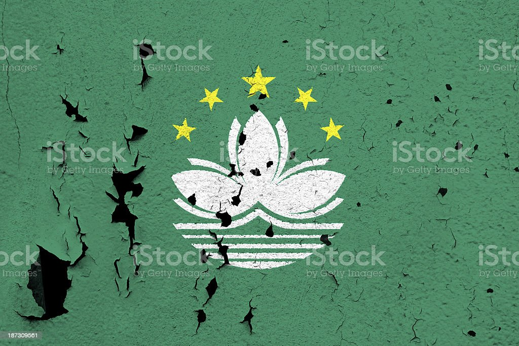 Flag of Macao royalty-free stock photo