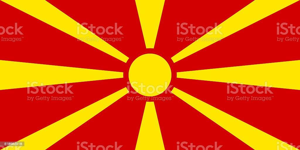 Flag of Macedonia - authentic version stock photo