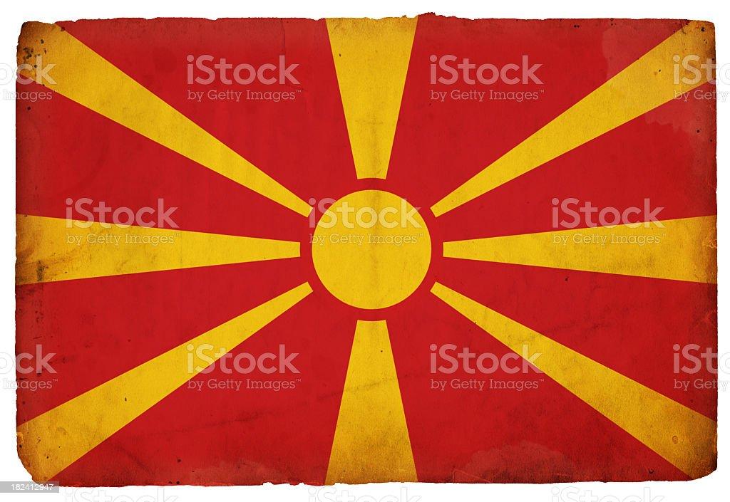 Flag of Macedonia - XXXL royalty-free stock photo