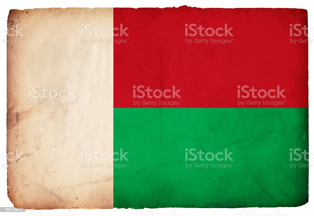 Flag of Madagascar - XXXL stock photo