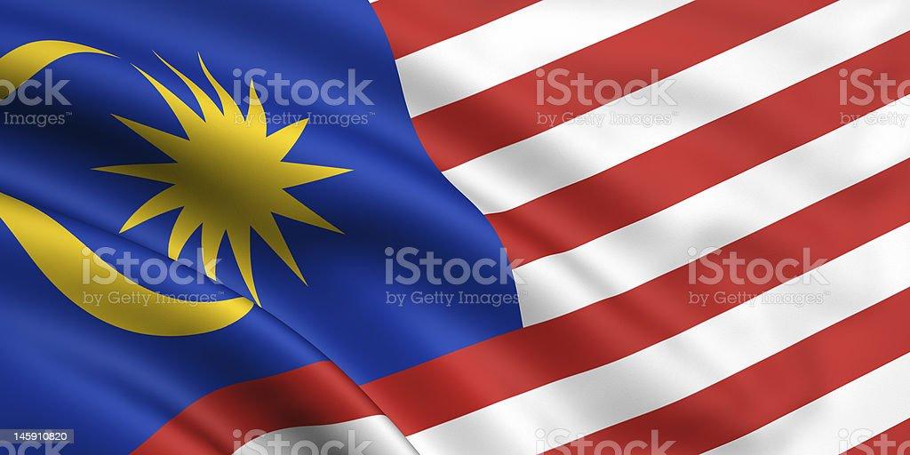 Flag Of Malaysia royalty-free stock photo