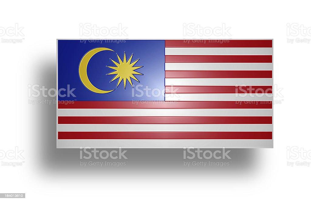 Flag of Malaysia (stylized I). royalty-free stock photo