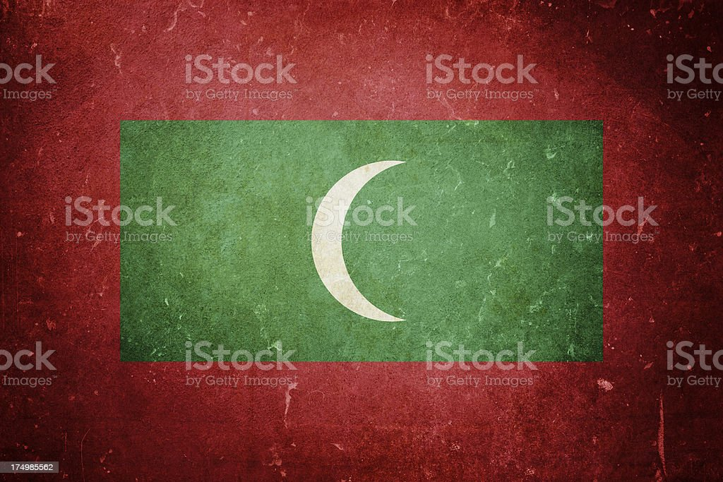 Flag of Maldives royalty-free stock photo