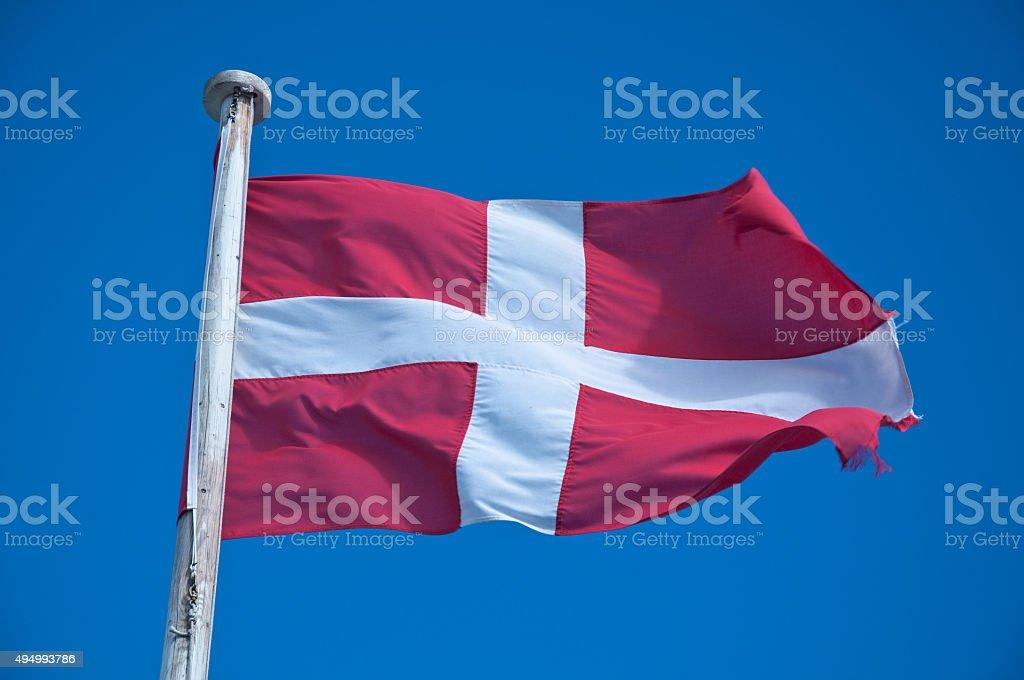 Flag of Malta against the blue sky stock photo