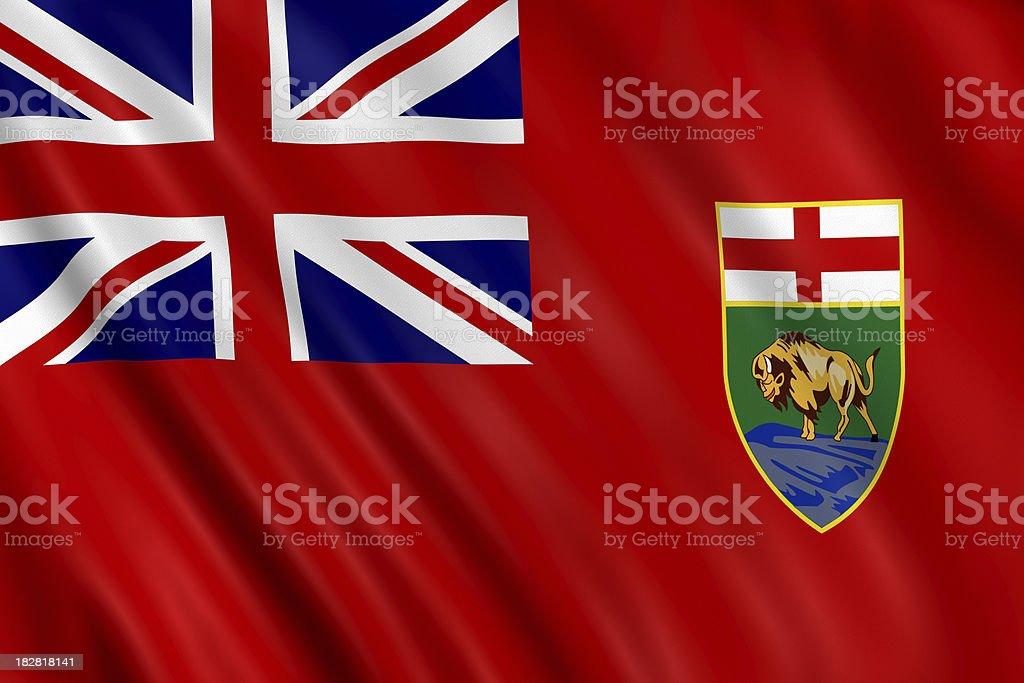 flag of manitoba stock photo