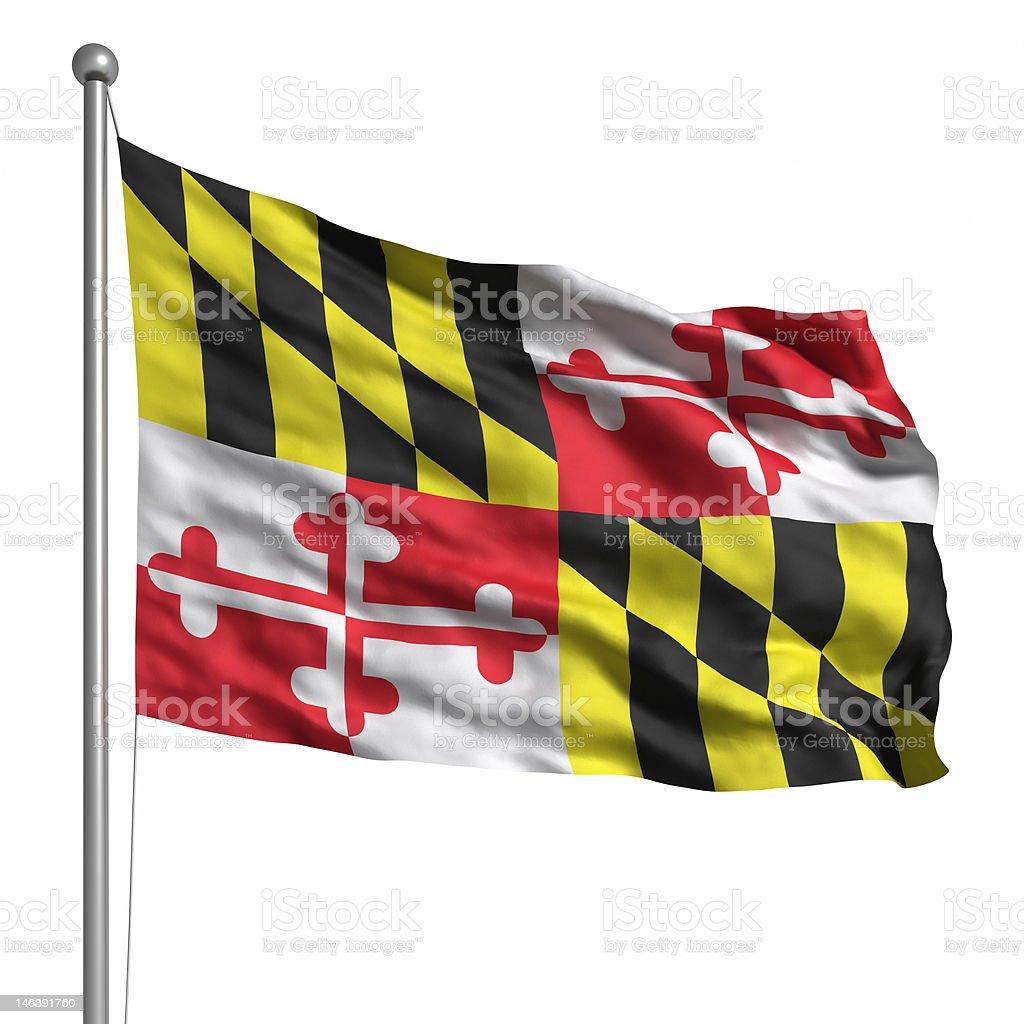 Flag of Maryland (isolated) royalty-free stock photo