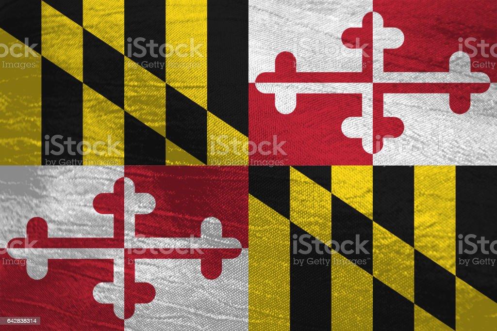 US flag of Maryland stock photo