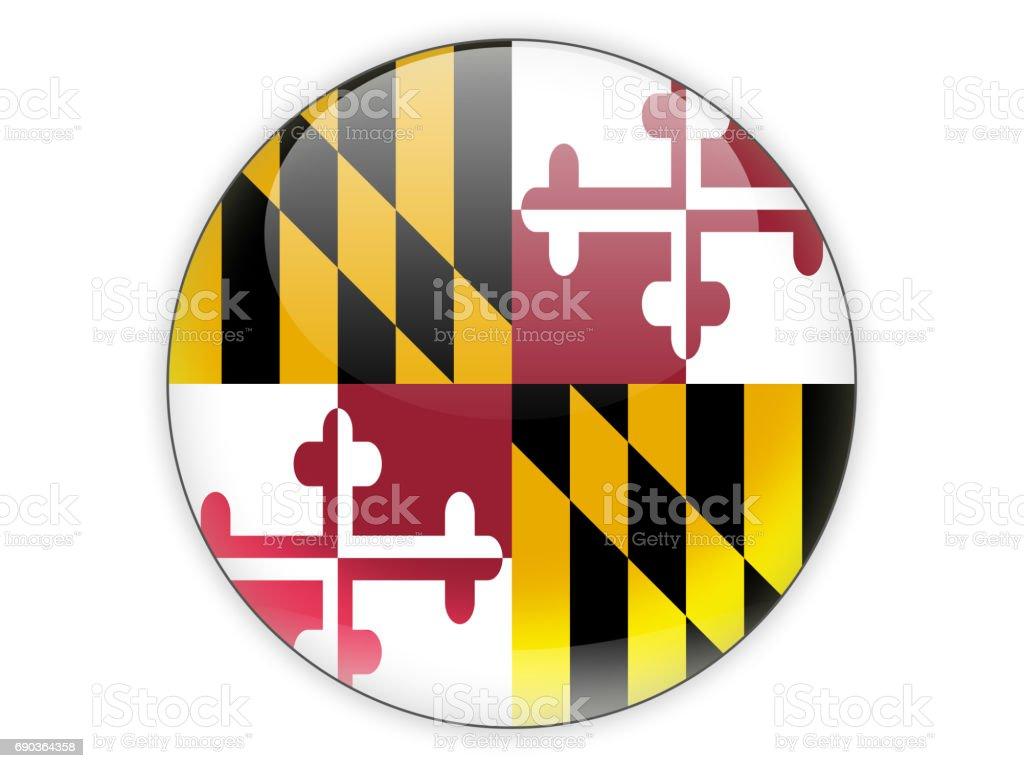 Flag of maryland, US state icon stock photo