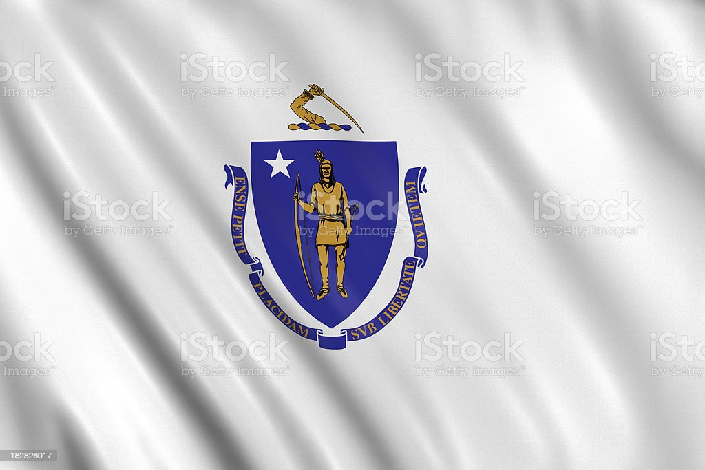 flag of massachusets stock photo
