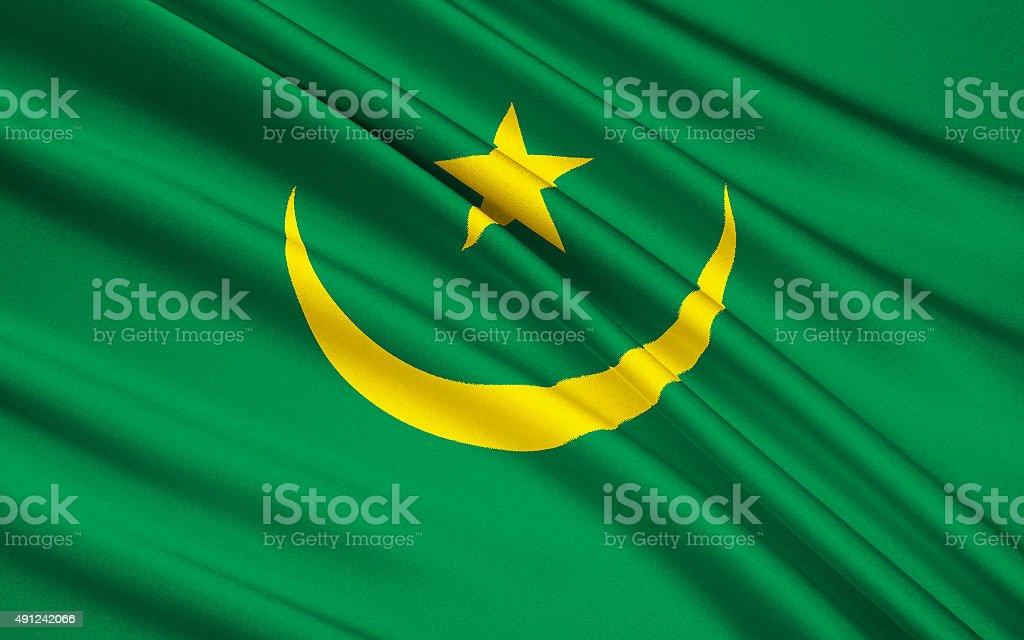 Flag of Mauritania, Nouakchott stock photo