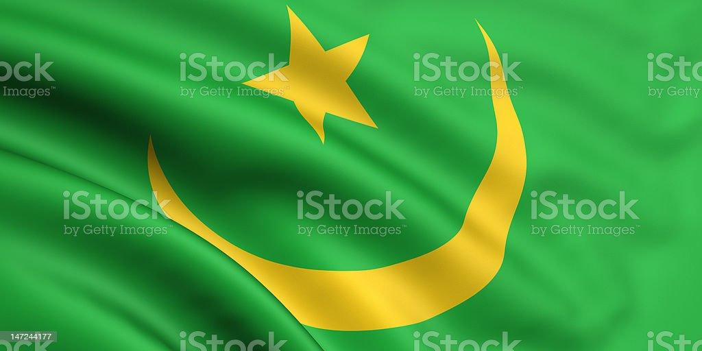 Flag Of Mauritania stock photo