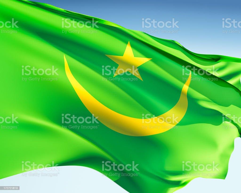 Flag of Mauritania royalty-free stock photo