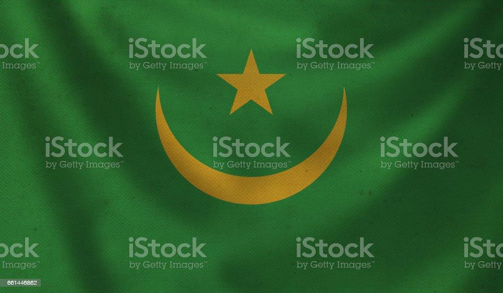 Flag of Mauritania. stock photo