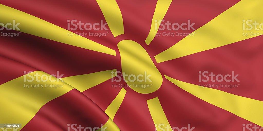 Flag Of Mecedonia stock photo