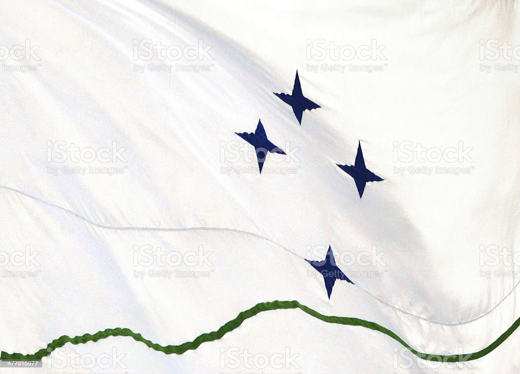 Flag of Mercosur, the South American union of countries stock photo