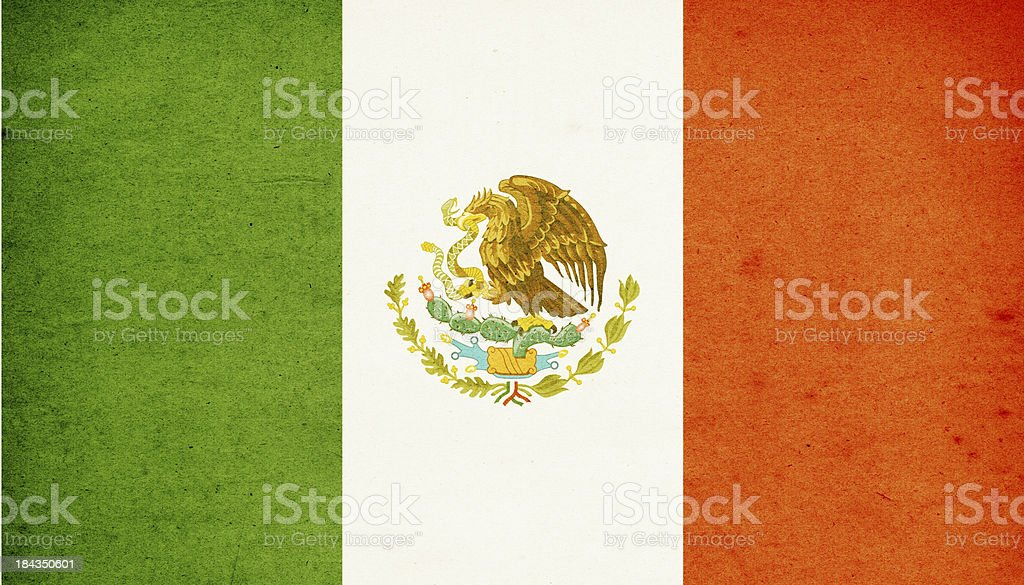 Flag of Mexico Close-Up (High Resolution Image) royalty-free stock photo