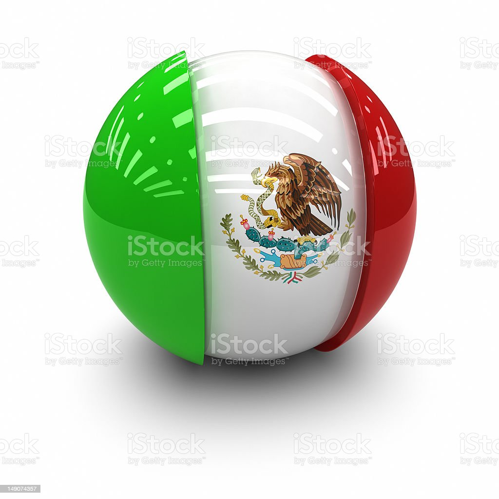 3D  - Flag of Mexico royalty-free stock photo