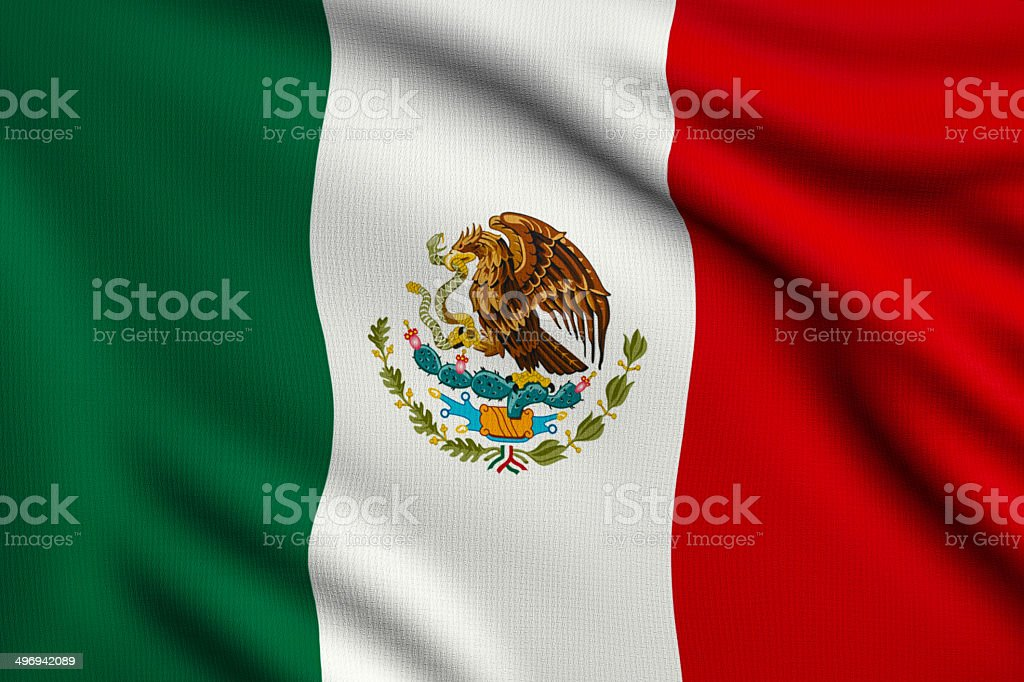 Flag of Mexico royalty-free stock photo