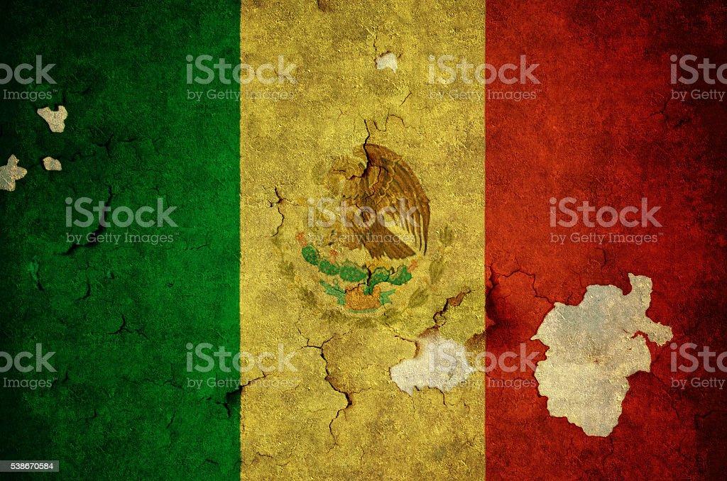 Flag of Mexico stock photo