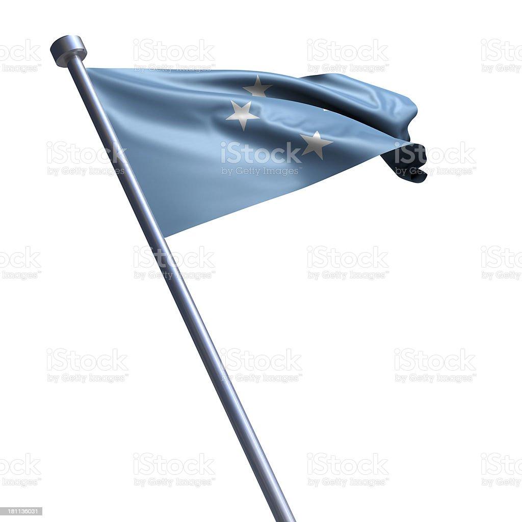 Flag of Micronesia isolated on white stock photo
