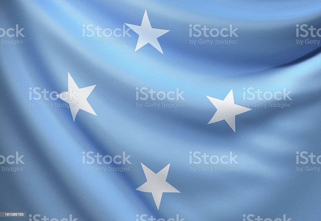 Flag of Micronesia stock photo