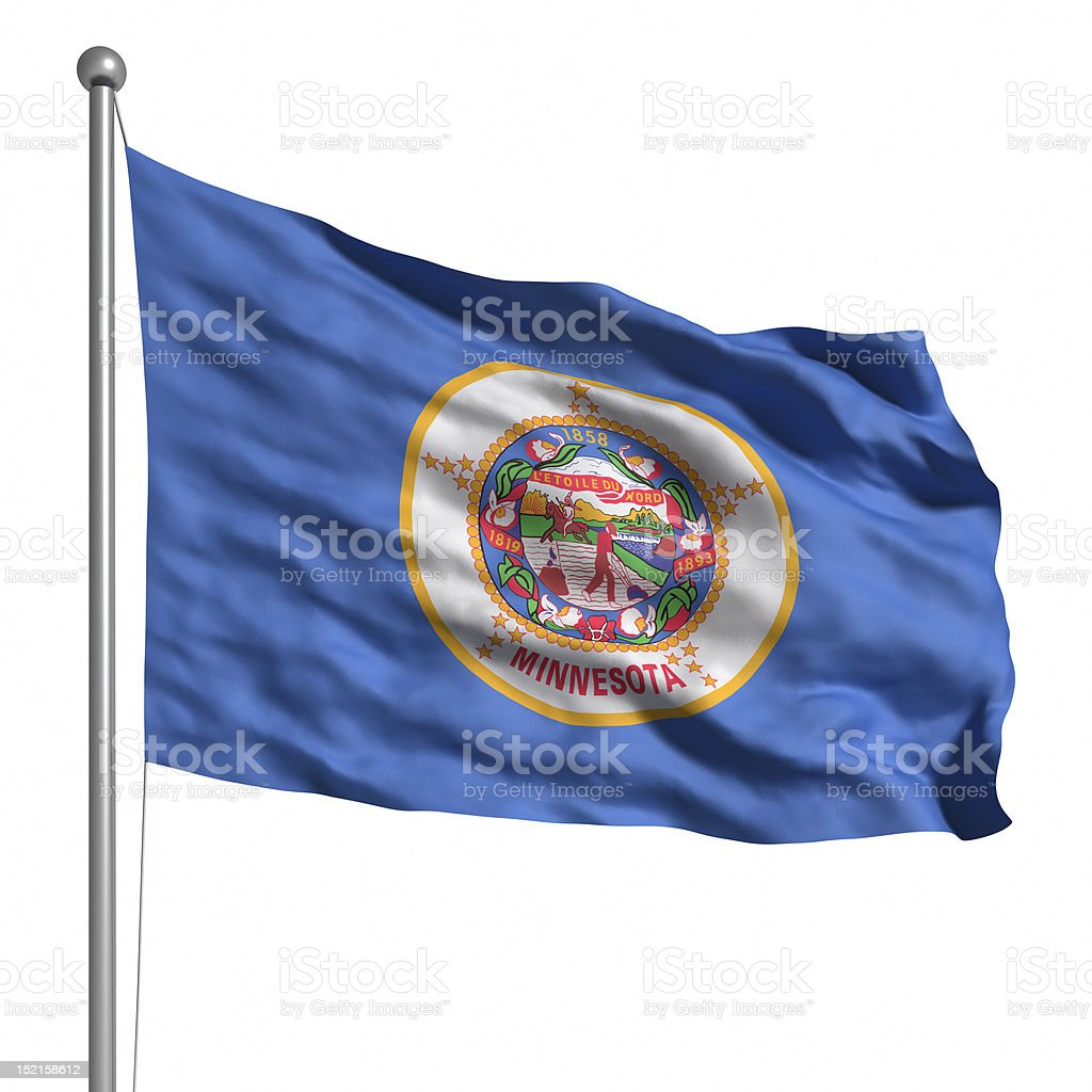 Flag of Minnesota (isolated) stock photo