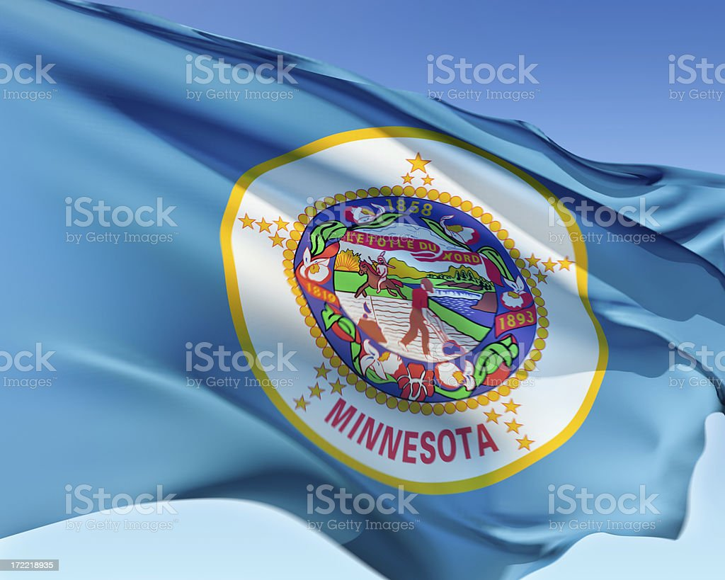 Flag of Minnesota stock photo