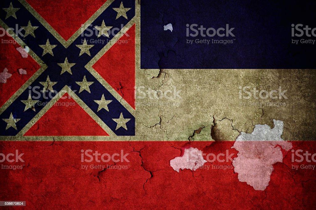 Flag of Mississippi stock photo
