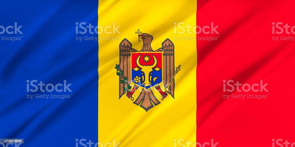 Flag of Moldova stock photo