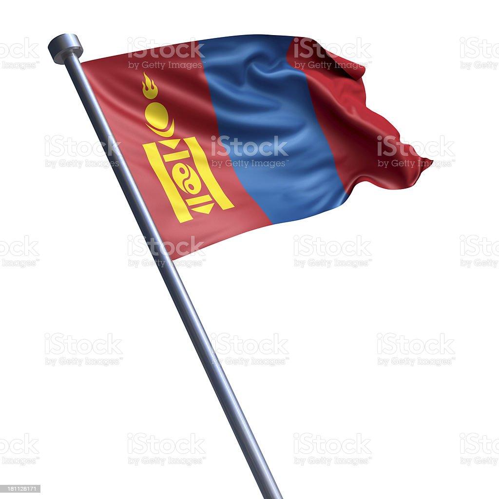 Flag of Mongolia isolated on white royalty-free stock photo