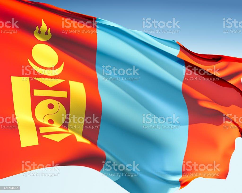 Flag of Mongolia stock photo