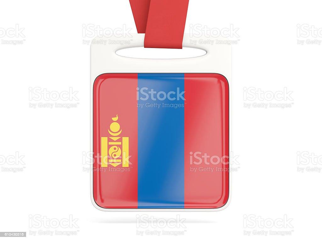 Flag of mongolia, square card stock photo