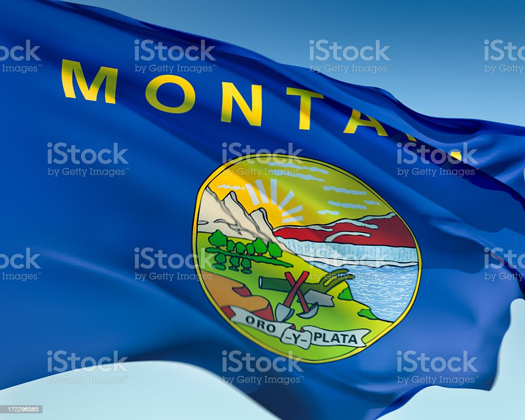 Flag of Montana royalty-free stock photo
