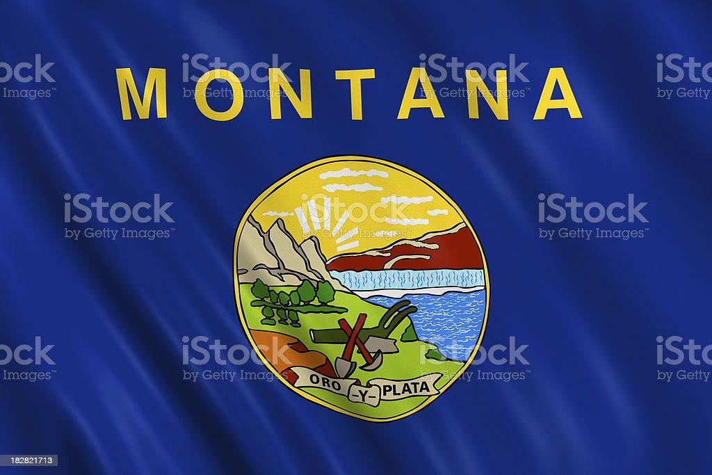 flag of montana royalty-free stock photo