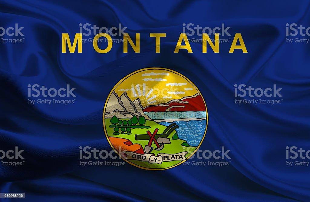 Flag of Montana State stock photo