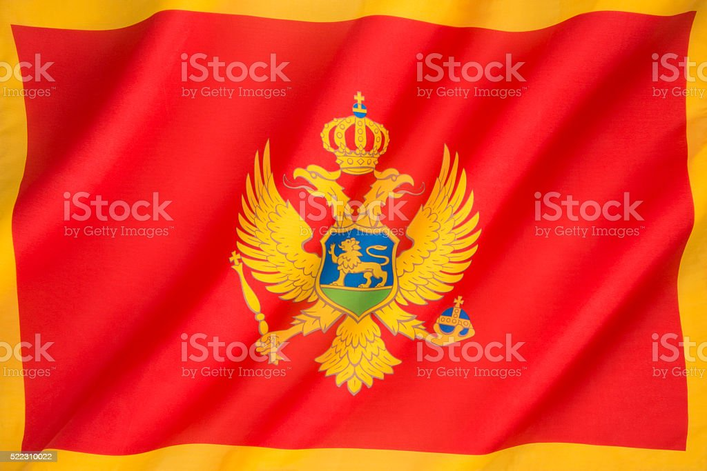 Flag of Montenegro stock photo