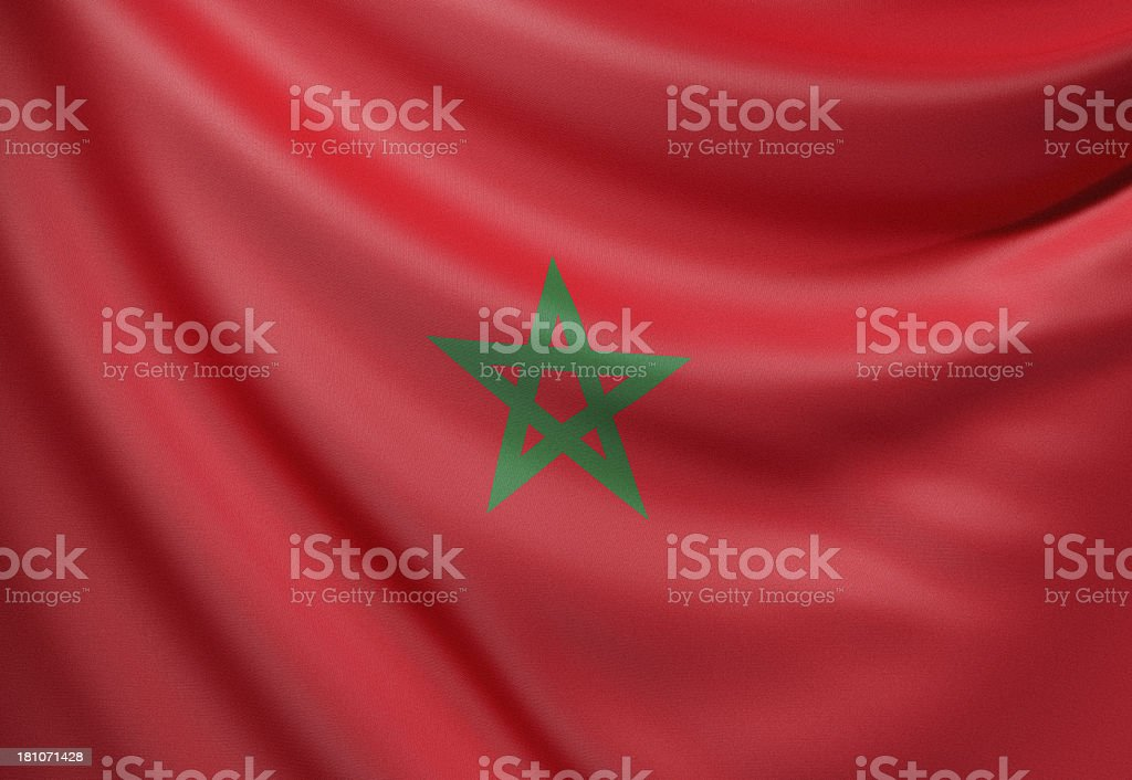 Flag of Morocco royalty-free stock photo