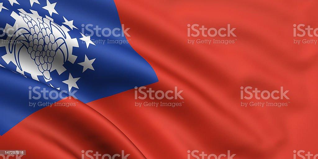 Flag Of Myanmar royalty-free stock photo