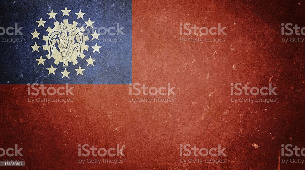 Flag of Myanmar royalty-free stock photo