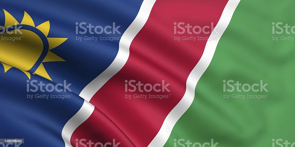 Flag Of Namibia royalty-free stock photo