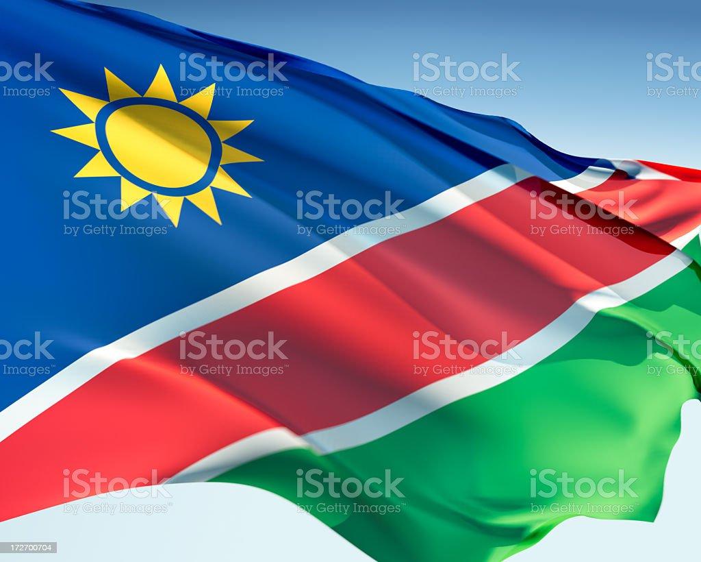 Flag of Namibia stock photo